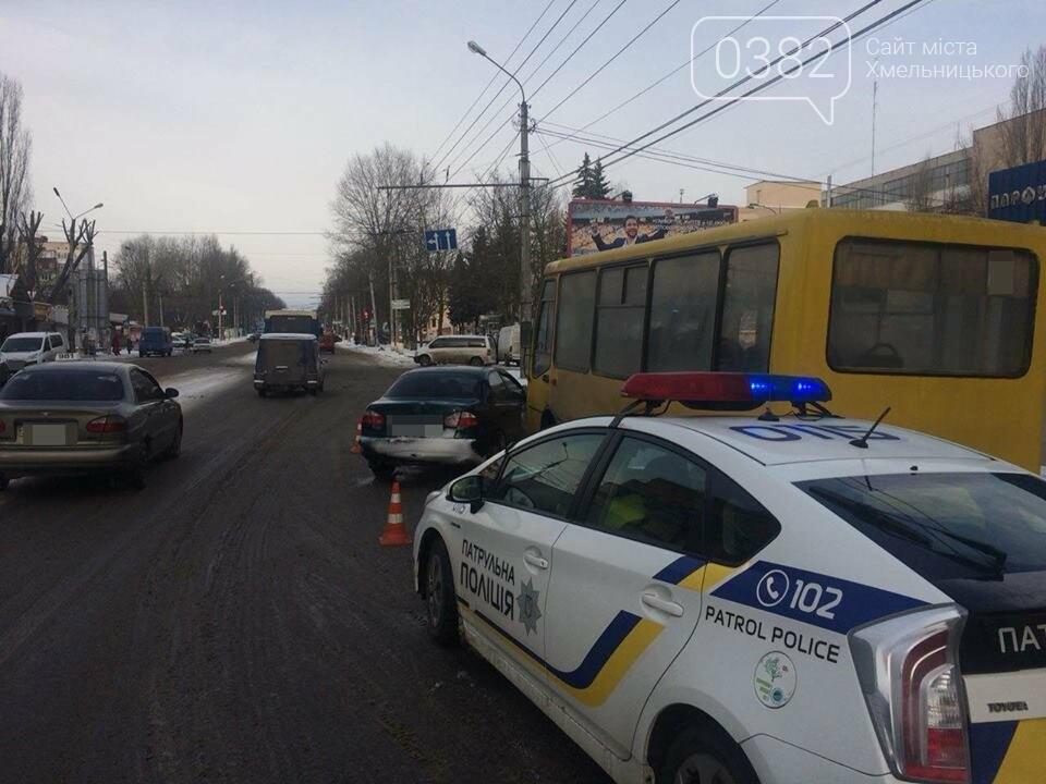 """У Хмельницькому  водій """"Daewoo"""" підрізав маршрутку. ФОТО, фото-1"""