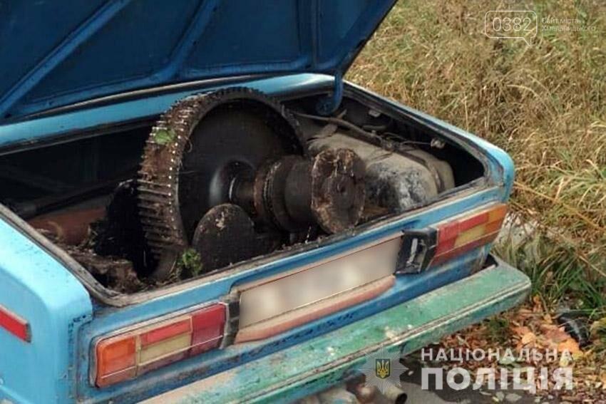 На Хмельниччині у машині з відчиненим багажником перевозили викрадене обладнання. ФОТО, фото-1