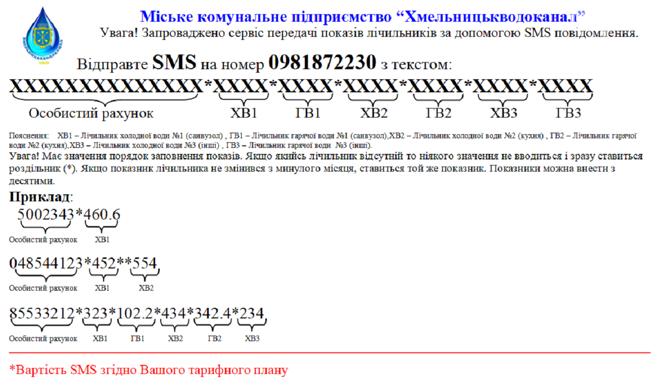 У Хмельницькому показники лічильників води можна передавати SMS повідомленням, фото-1