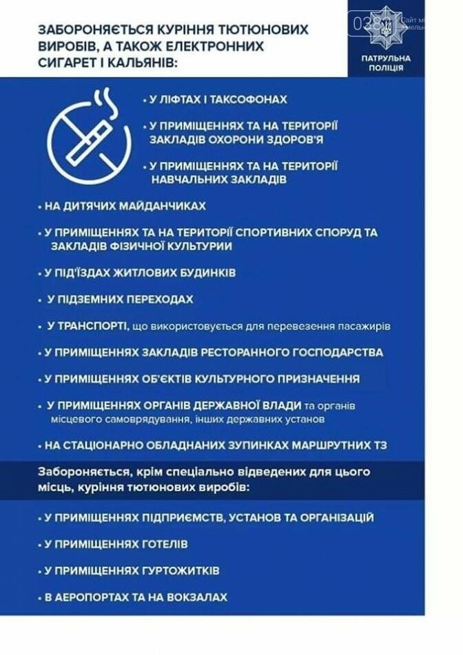 Де у Хмельницькому не можна палити навіть електронні сигарети. Перелік місць , фото-1
