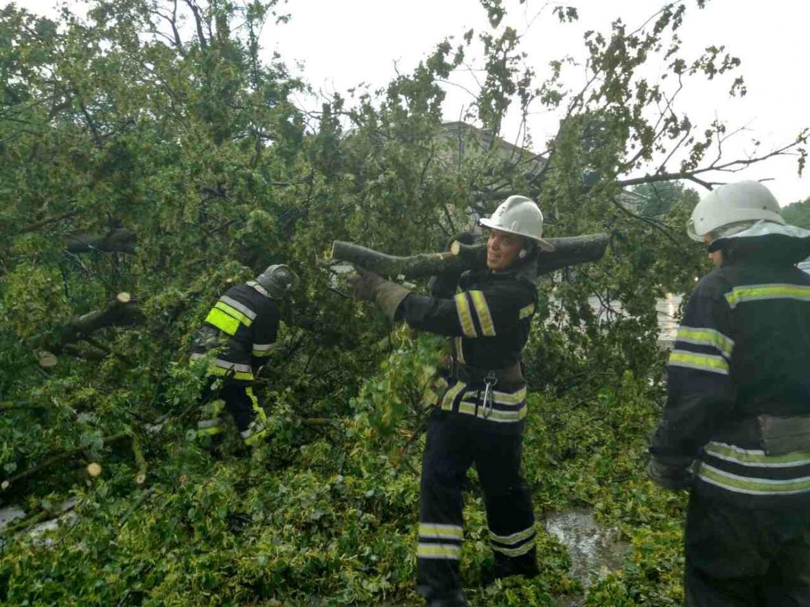 Негода: на Хмельниччині знеструмлені 35 населених пунктів, розтрощені авто, затоплені вулиці, фото-2