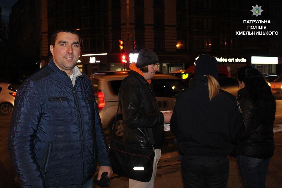 """Флешмоб """"Світлячок"""": хмельницькі патрульні закликали дітей бути помітними на дорозі, фото-7"""