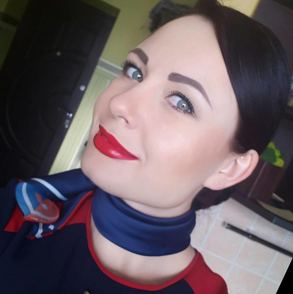 Бортпровідниця Катерина Пасенчук.30 років. Бориспіль.