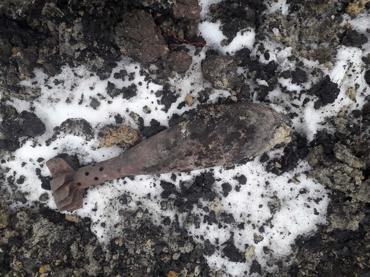 На вулиці Кам'янецькій знайшли мінометну міну часів Другої Світової війни. ФОТО, фото-1