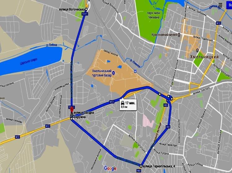 Усі маршрути іспитів з ПДР у Хмельницькому тепер можна побачити онлайн, фото-2