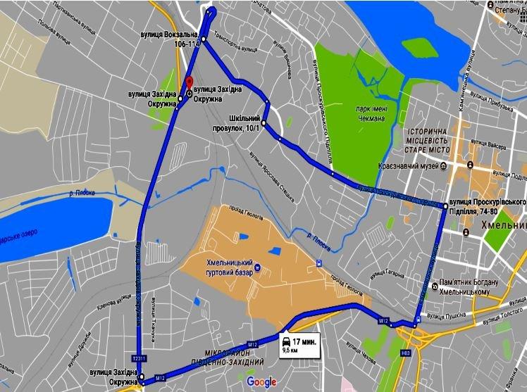 Усі маршрути іспитів з ПДР у Хмельницькому тепер можна побачити онлайн, фото-3