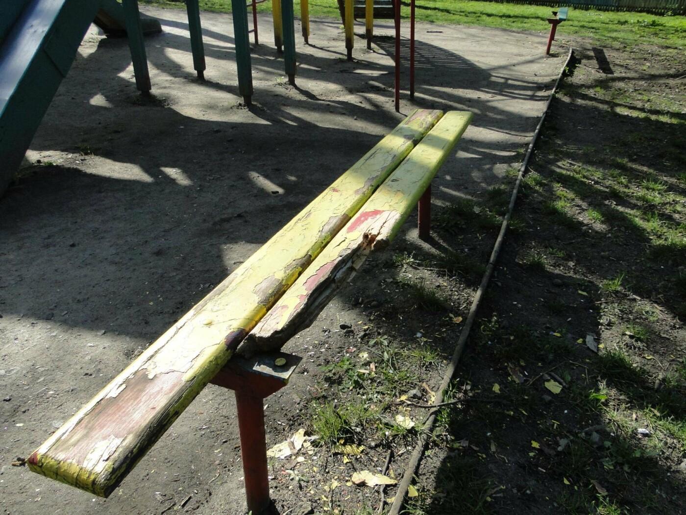 Травмоване дитинство: де зачаїлася небезпека на дитячому майданчику в парку Чекмана. ФОТО, фото-15