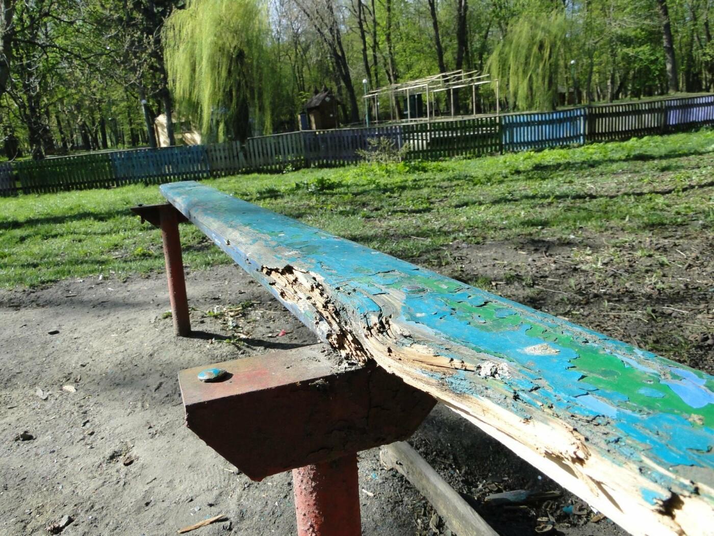 Травмоване дитинство: де зачаїлася небезпека на дитячому майданчику в парку Чекмана. ФОТО, фото-14