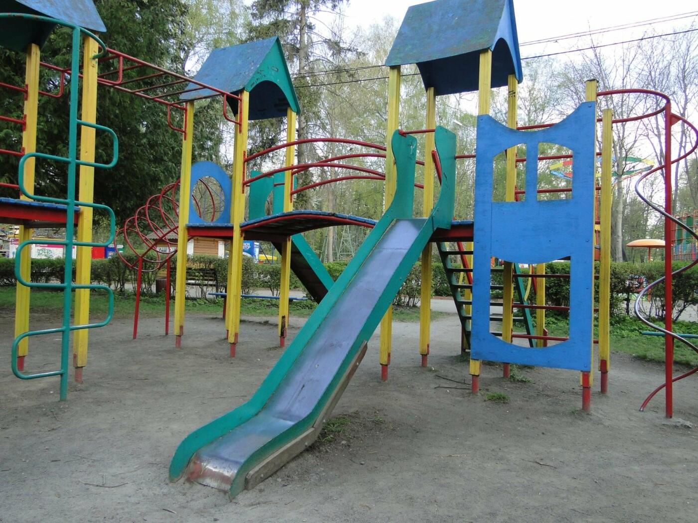 Травмоване дитинство: де зачаїлася небезпека на дитячому майданчику в парку Чекмана. ФОТО, фото-2
