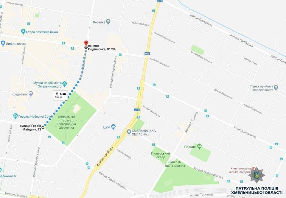 День міста: Карта обмеження руху транспортних засобів у Хмельницькому, фото-2