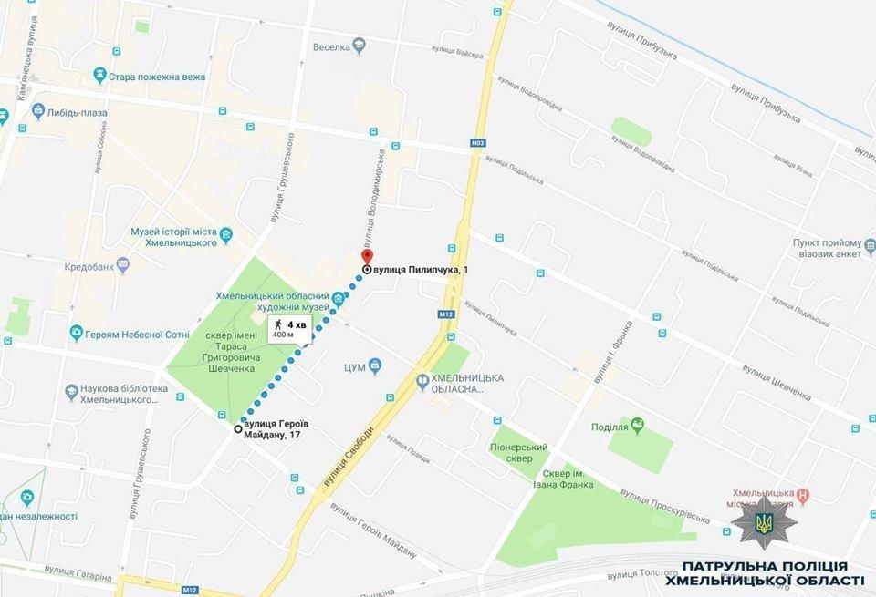 День міста: Карта обмеження руху транспортних засобів у Хмельницькому, фото-1