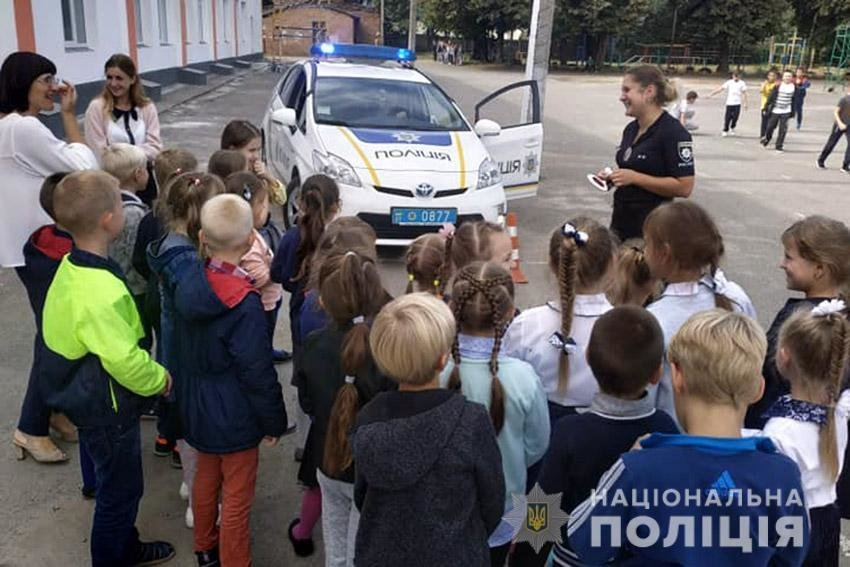 Твій друг — дорожній рух! Поліцейські Хмельниччини навчають школярів правилам поведінки на дорозі. ФОТО, фото-3