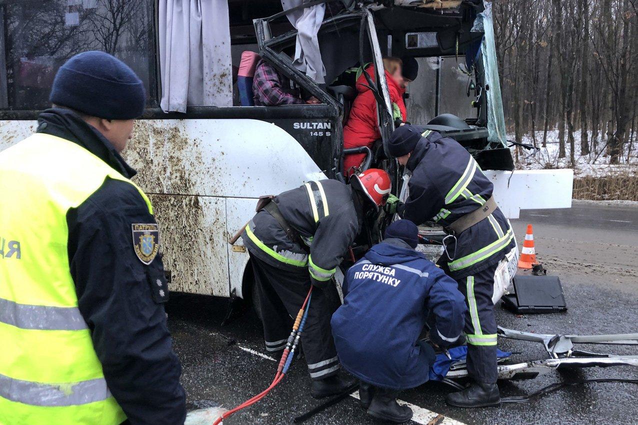 На Хмельниччині сталася жахлива ДТП: Рейсовий автобус в'їхав у вантажівку з худобою. ФОТО. ВІДЕО, фото-1
