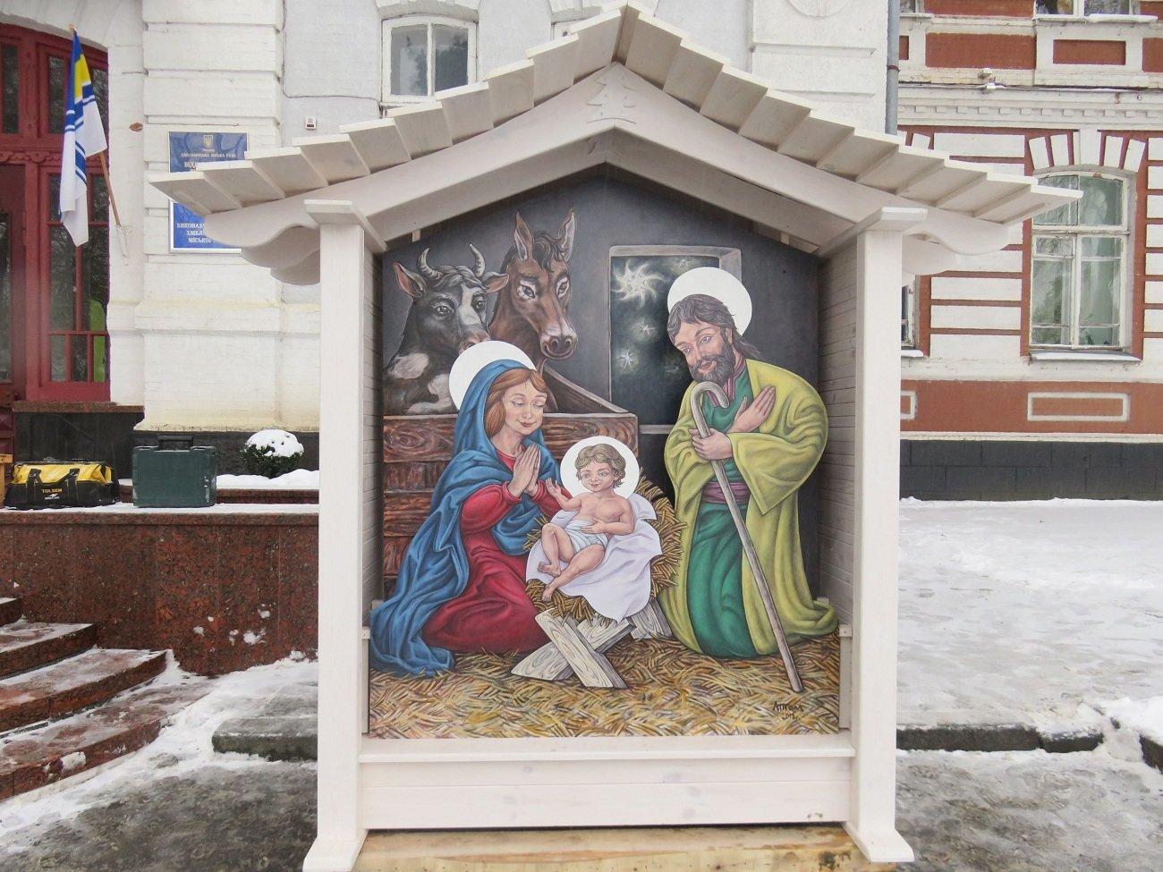У центрі Хмельницького з'явився різдвяний вертеп, фото-1