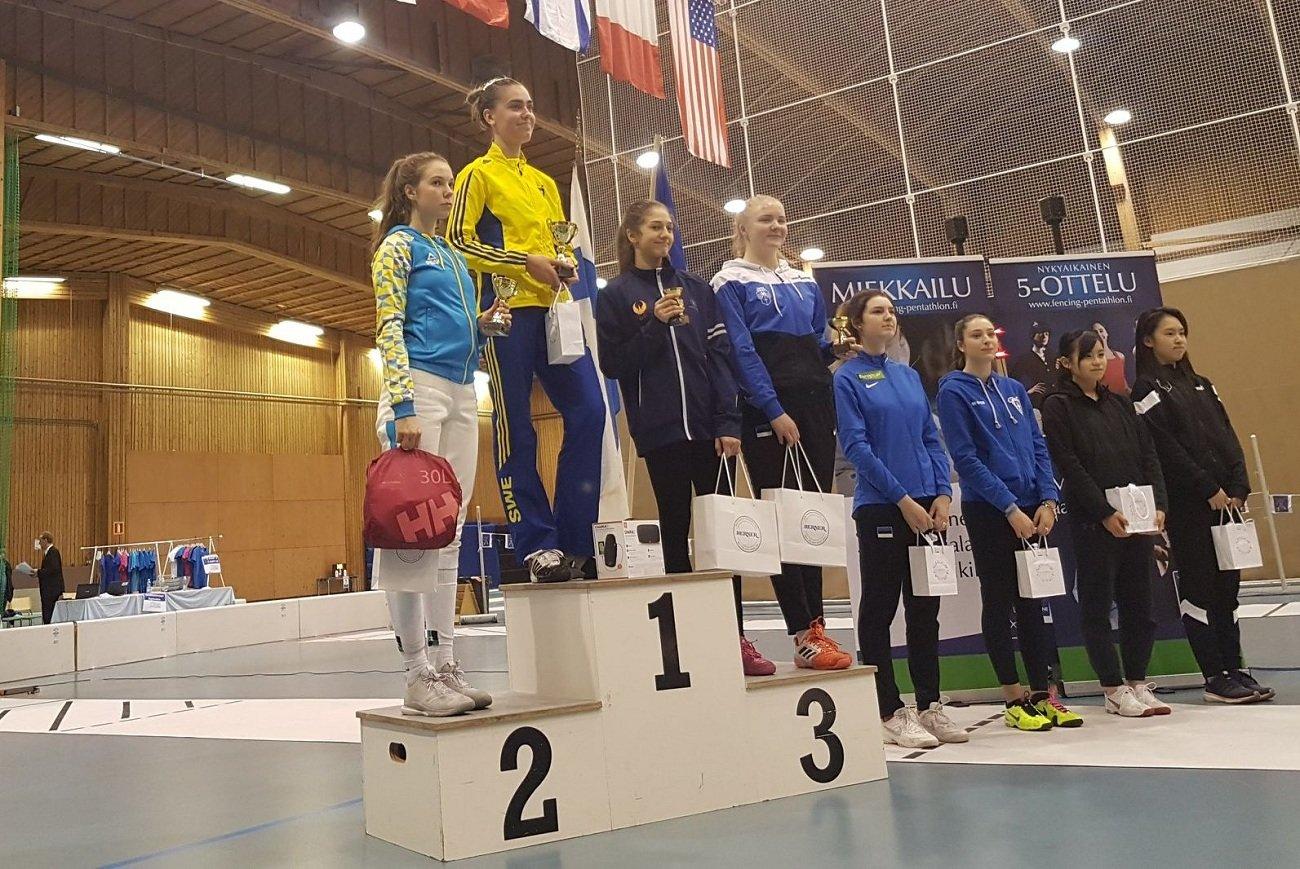 Хмельничанка виборола «золото» та «срібло» на етапі Кубку Європи з фехтування, фото-2