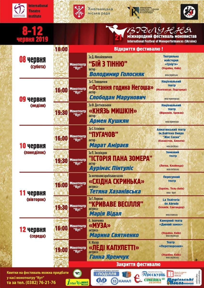 У Хмельницькому пройде Міжнародний фестиваль моновистав , фото-1