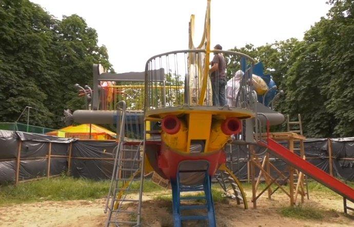 У Хмельницькому завершують реставрацію скульптур Миколи Мазура (фото, відео), фото-1