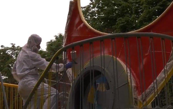 У Хмельницькому завершують реставрацію скульптур Миколи Мазура (фото, відео), фото-3