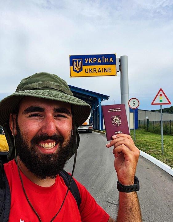 У Хмельницький з Вільнюса пішки йде Ніко Амірґулашвілі. Дізнайся мету, фото-1