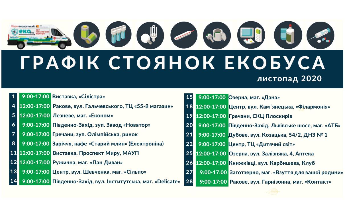 У Хмельницькому оприлюднили графік збору небезпечних відходів у листопаді, фото-1