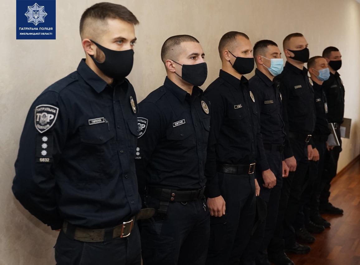 Хмельницьких патрульних відзначили подяками за розкриті злочини по гарячих слідах, фото-1