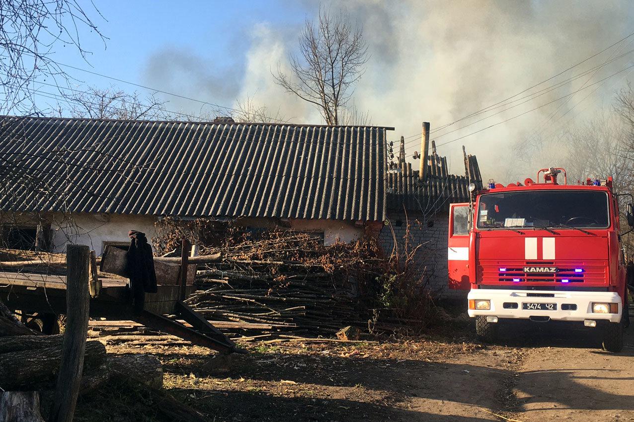 На Хмельниччині рятувальники ліквідували масштабну пожежу , фото-2