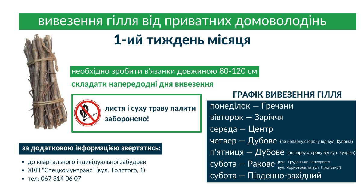 У Хмельницькому будуть вивозити гілля від приватних домоволодінь, фото-1
